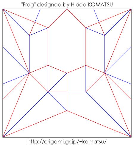 簡単 折り紙:折り紙 展開図-origami.gr.jp