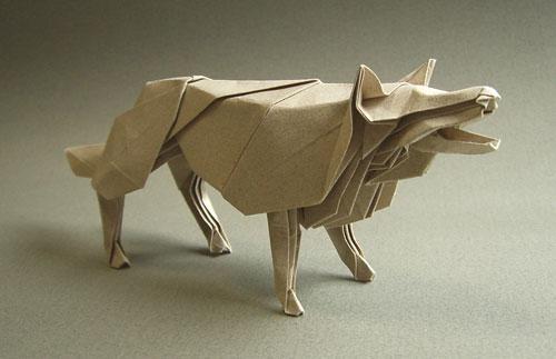 狼的折法图解
